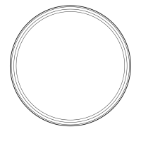 Creative souls here is a blank circle to frame your colouring work...