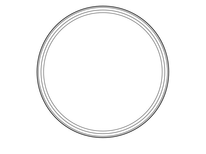 blank frame circle