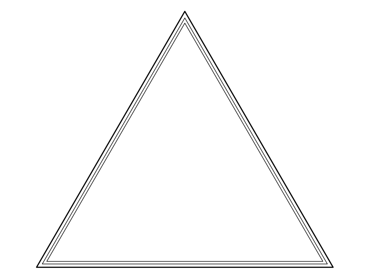 Triangles anyone? Freedom to colour your own original creation with this blank frame.