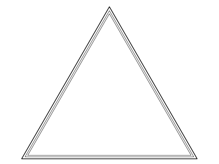blank frame triangle