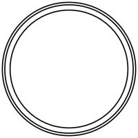 Blank round frame