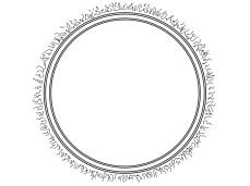 blank frame hairy circle