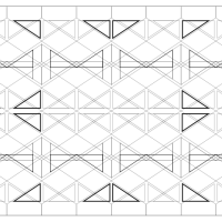 Repeated Geometric Shapes: Chevron flipped