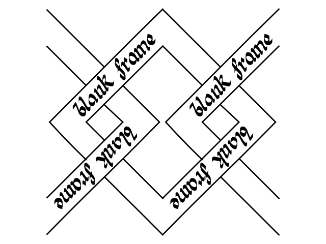 celtic border - blank frame
