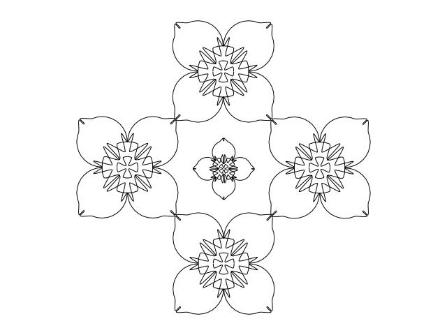 Daffodil tile bw
