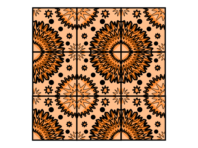 Geo repeat tile orange