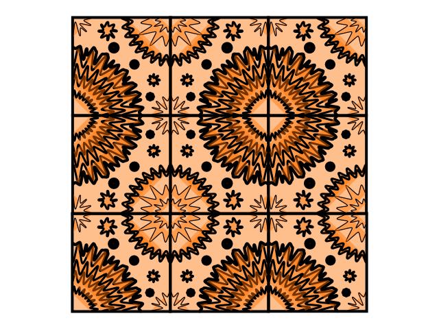 Geo repeat tile orange