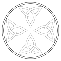Ready to colour Celtic Knots in a Circle