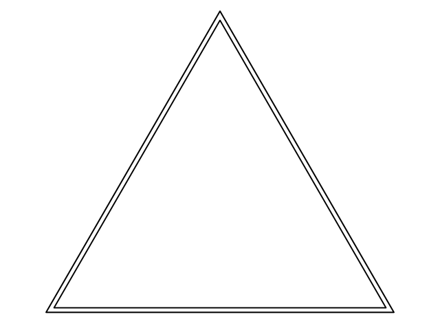 Blank Frame: Triangle for you to draw and colour inside – Wildersoul ...