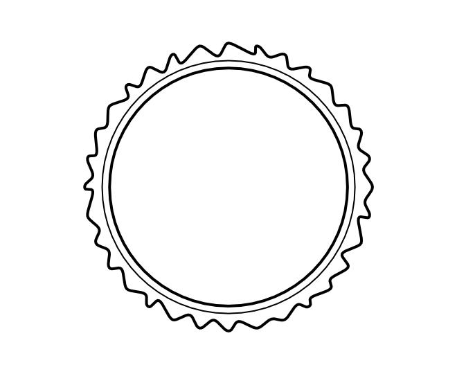blank frame circles 13