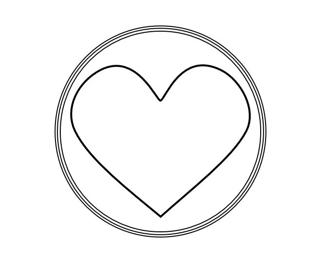 blank frame circles 16
