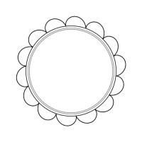 blank frame circles 5