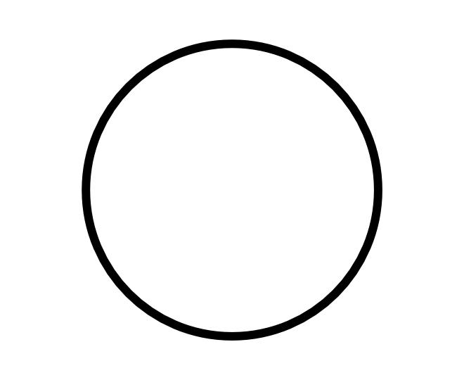 blank frame circles 8
