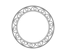 blank frame circles 9