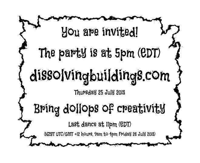 dissolving party invitation