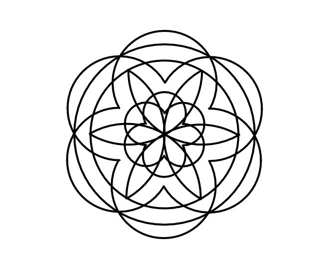 Geo roundel flower 10