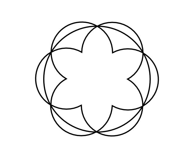 Geo roundel flower 11