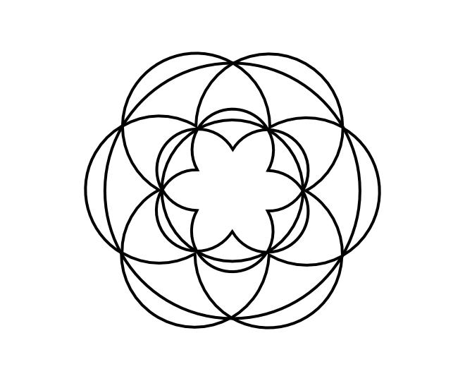 Geo roundel flower 12