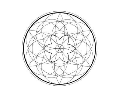 Geo roundel flower 13