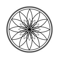 Geo Roundel #Flower 2