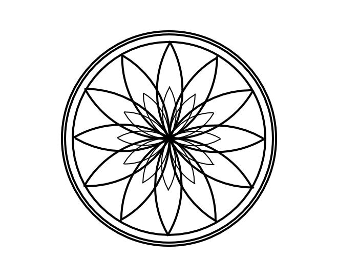 Geo roundel flower 2