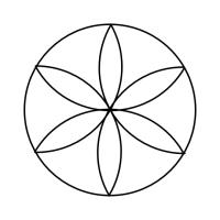 Geo Roundel Flower No. 3