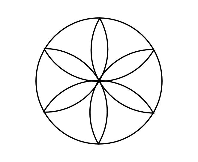 Geo roundel flower 3