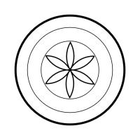 Geo Roundel Flower No. 4