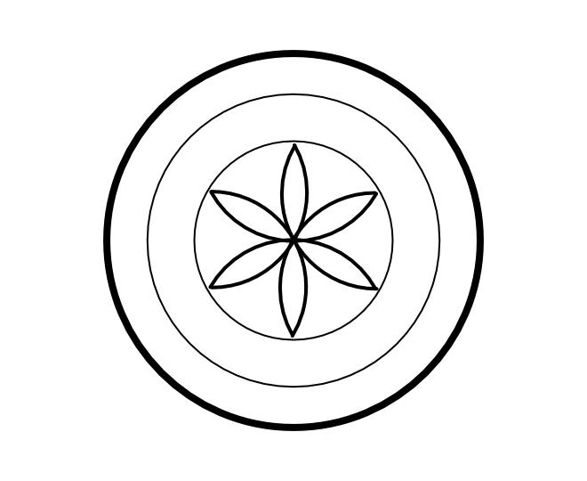 Geo roundel flower 4