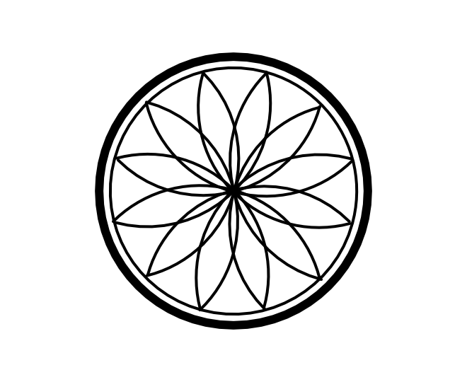 Geo roundel flower 5