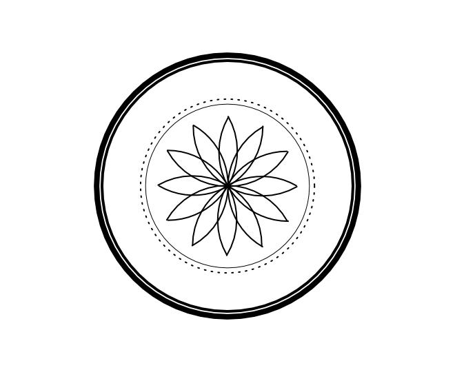 Geo roundel flower 6