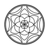 Geo Roundel Flower No. 7