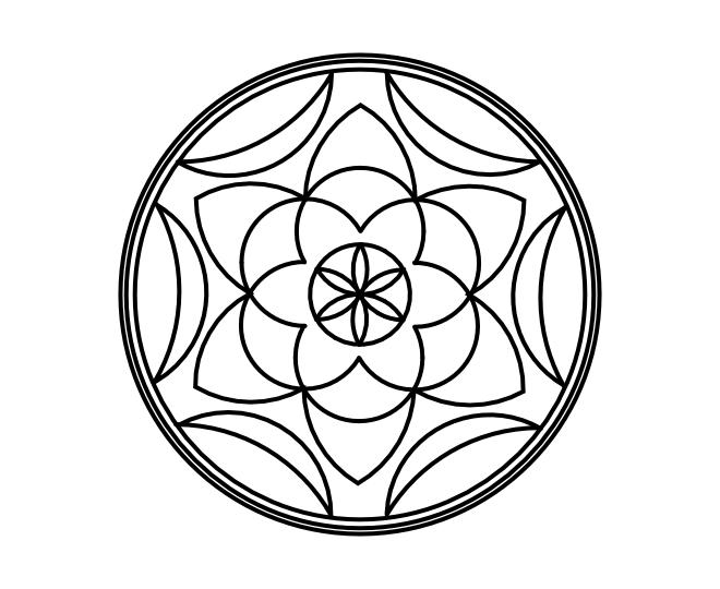 Geo roundel flower 7