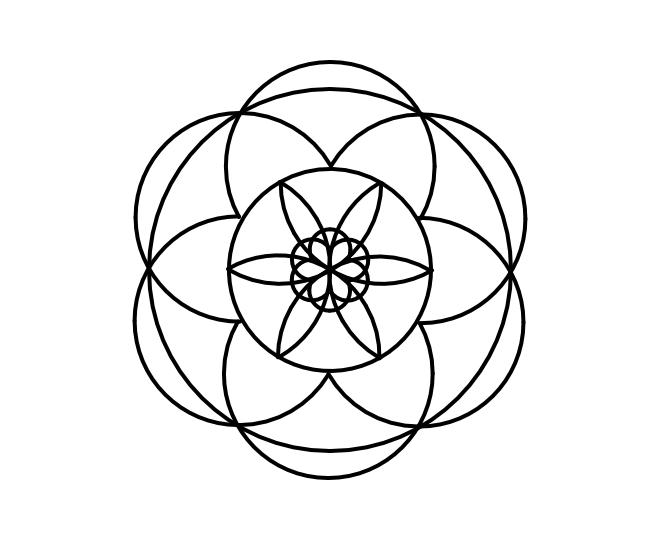 Geo roundel flower 8