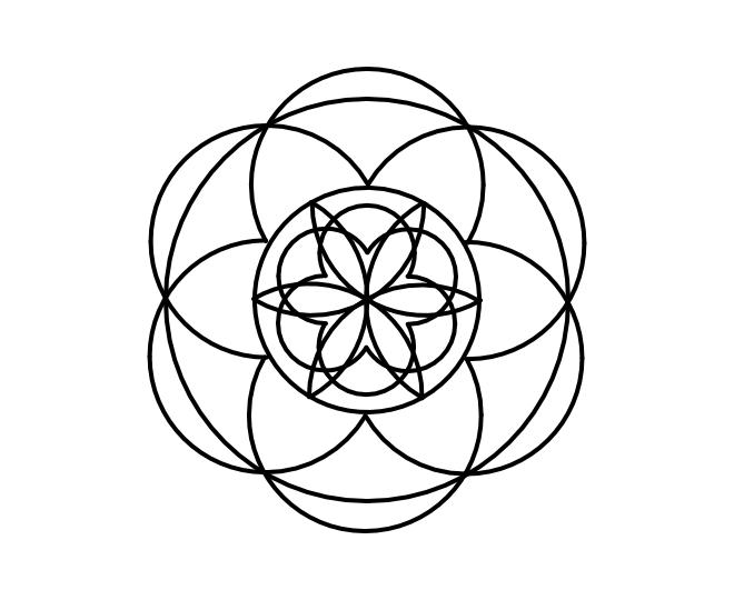 Geo roundel flower 9