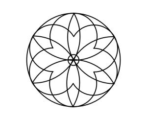 Geo roundel flower