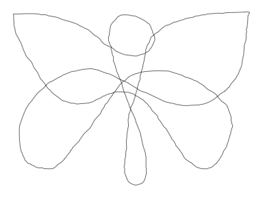 knotted butterfly 1