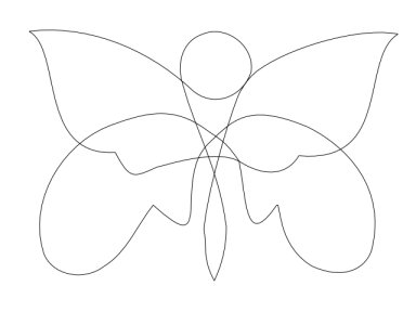 knotted butterfly 2