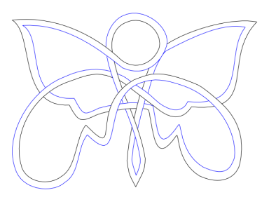 knotted butterfly 5