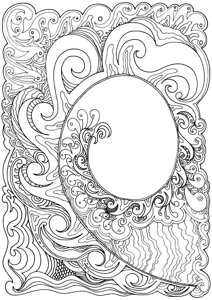 Koru Hand Drawn In Ink Wildersoul Colouring Book