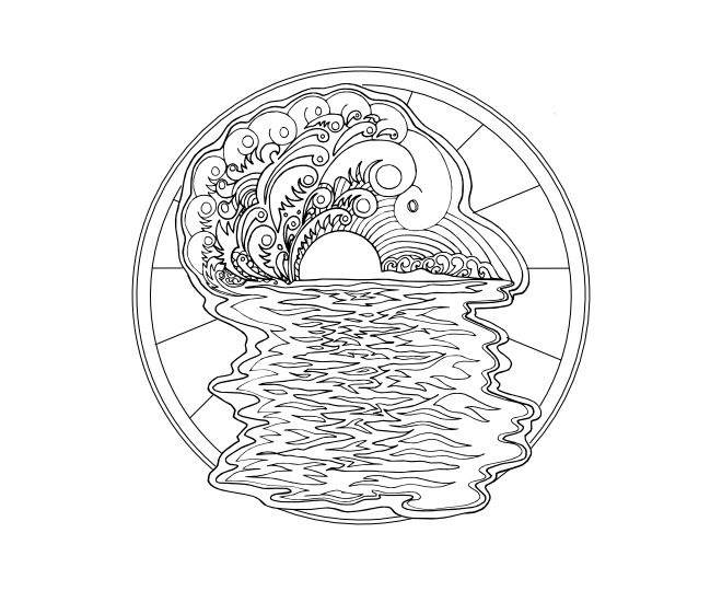 sunrise coloring pages - photo#4