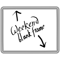 Weekend Blank Frames