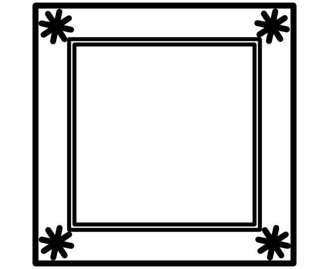 Blank square frame 5