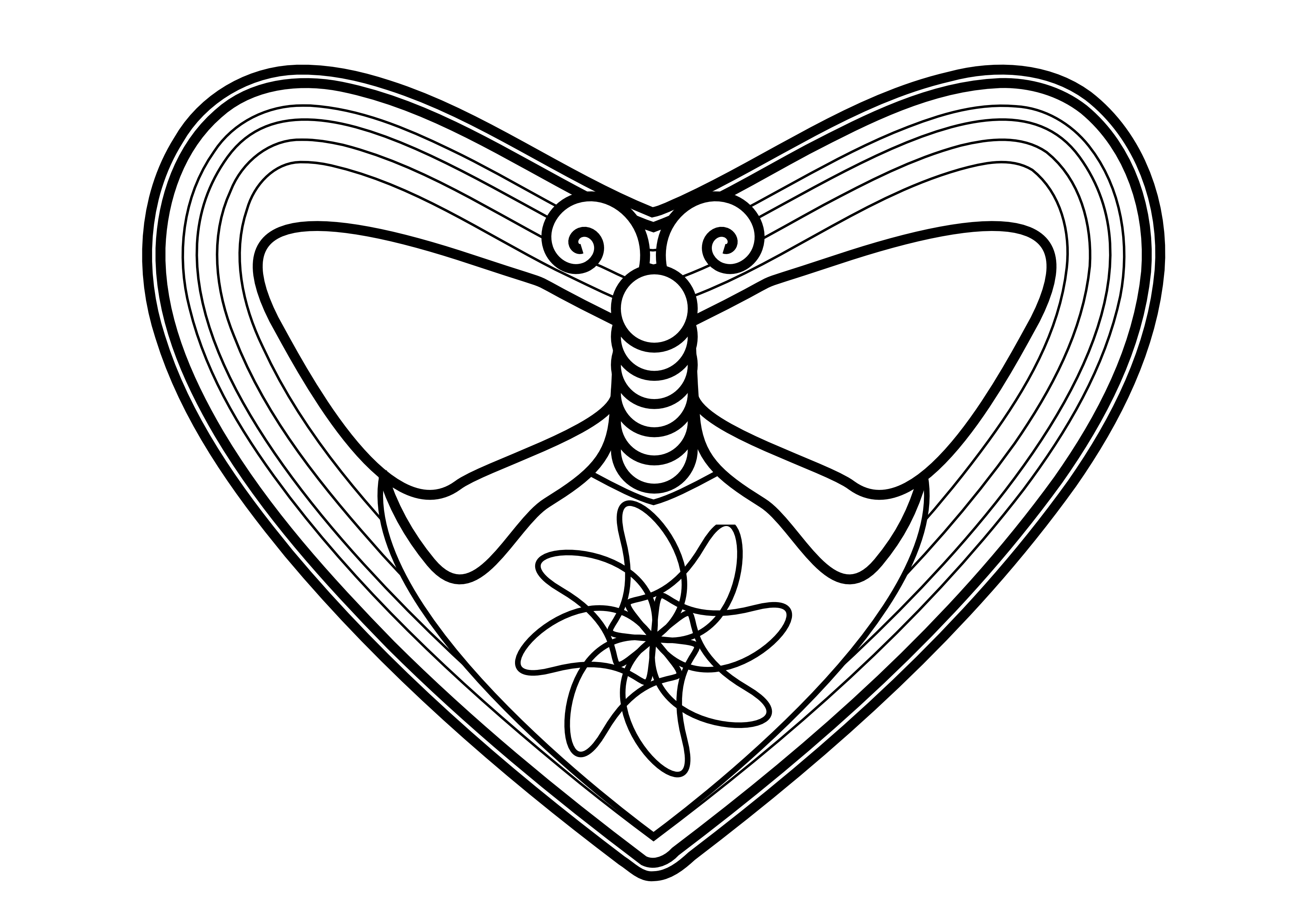 Butterfly loves flower – Wildersoul Colouring Book