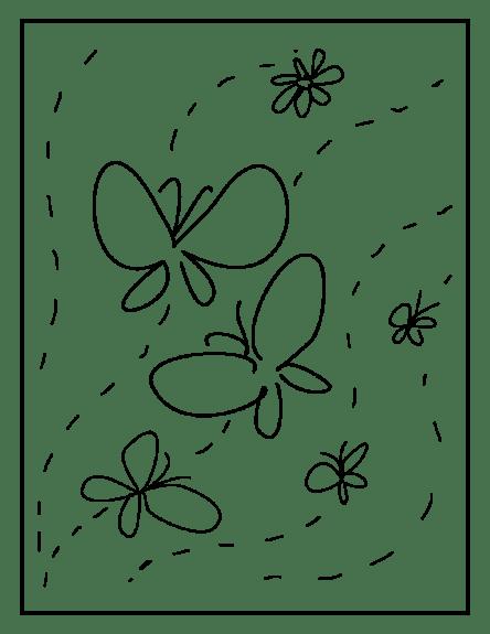 butterflies and flower