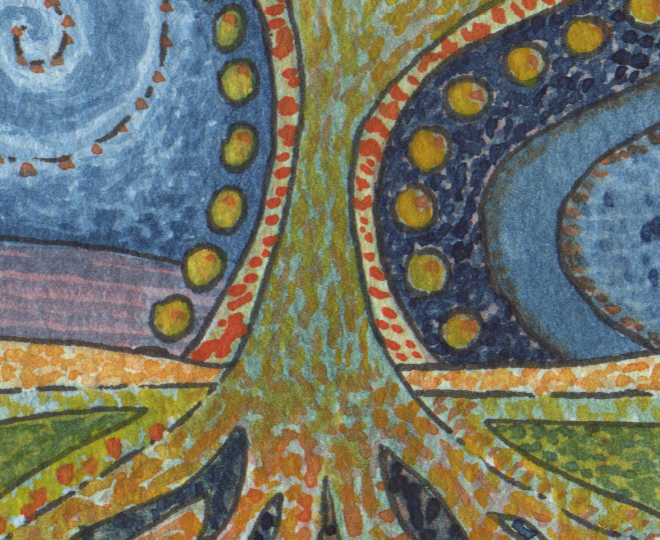 watercolour tree detail 1
