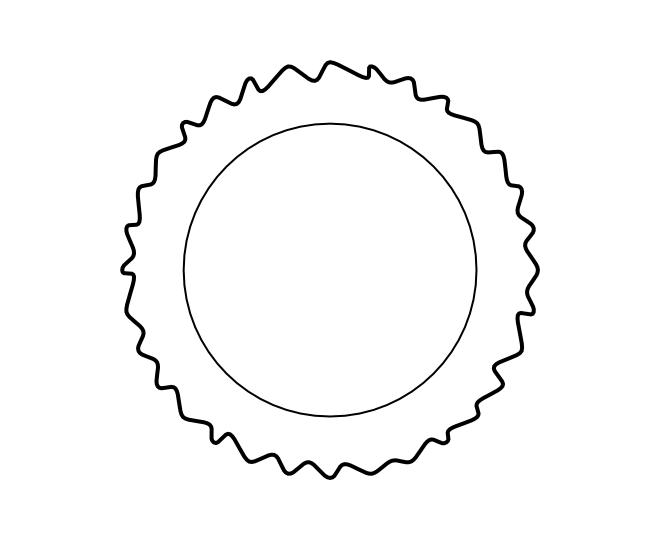 blank frame circles 14
