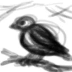 The roughest of a rough preliminary sketch