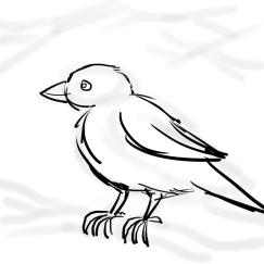 The Sparrow with a faint hint of trees